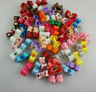 10 100PCS 3D Puppy Cat Dog Rhinestone Small Hair Bow Rubber Bands Pet Grooming