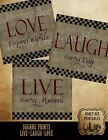 Primitive Distressed Style Live Laugh Love 8x8 Prints PRINTS ONLY