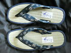 Japanese Traditional Men's Shoes Zori Sandal 25cm Tatami Material Rare! New