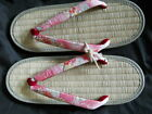Japanese Traditional Women's Shoes Zori Sandal 25cm Tatami Material Rare! New