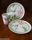 Fitz and Floyd Variations Hummingbird Mug and Plates 1981 Japan