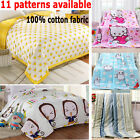 100%Cotton Small Child/Full/Queen/King Size Bed Quilt Coverlet Cartoon Stripe