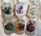 Butterfly and Lace 6 Vintage Hang Tags Scrapbooking Cards 16 judysjemscrafts