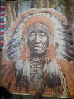 Native American Chief VINTAGE WALL MURAL 63 X 55