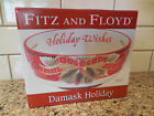 New Fitz and Floyd Damask Holiday Sentiment Bowl