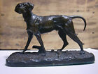 ORIGINAL PERIOD FRENCH PATINATED BRONZE STATUE FIGURINE  DOG S.P.G.MENE.1880