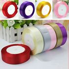 25 Yards 125mm Satin Ribbon Wedding Party Craft DIY Hair Bow Multi color US