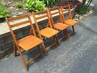 Vintage Mid Century Wood Chair Lot FoldIng Deco Chairs Dowd 4 Fold Up Retro