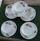 6 sets OF MOSS ROSE  OR ROSE MOSS TEA CUPS AND SAUCERS  JAPAN  WOW