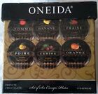 Oneida French Chocolate Canape Plates Boxed Set of Six Mint Condition