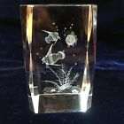Tropical Fish 3D Laser Hologram Crystal Paperweight