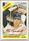 2015 TOPPS HERITAGE RON NISCHWITZ REAL ONE RED AUTO SP + STAMPED BUYBACK 1966 !