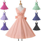 50s 60s Vintage Dresses Retro Pin Up Evening Cocktail Party Prom Swing Tea Dress