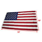 10x15 Embroidered Sewn US USA American 50 Star Premium Nylon Flag 10x15