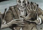 NIGHT OF THE LIVING DEAD SKETCH CARD PAINTED ART HORROR ACEO 1 1 ROBERT DECKER