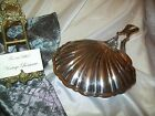Vintage Silver Plated Shell Shaped Crumb Catcher Silent Butler Footed