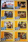 D-DAY THE SIXTH OF JUNE - ORIGINAL 1956 LOBBY CARD SET - WWII ROMANTIC DRAMA!!