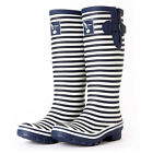 Knee High Rain Boots Fashion stripes Boots Evercreatures UK Brand Free Shippiing