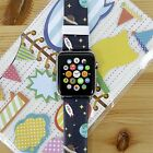 Space Plantes Printed on Leather Strap Band for Apple Watch Series 1 2 38 42 mm
