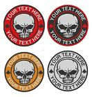 Custom Embroidered Skull Logo Motorcycle Biker Sew on Round Patch CP 08