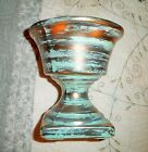VTG USA Stangl Pottery Turquoise Blue Black Gold Footed Grecian Vase