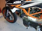 KTM 690 ENDURO & SMC CRASH MUSHROOMS FRAME SLIDERS PROTECTORS BOBBINS KNOB  R8A3