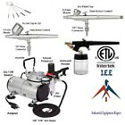 Quality Dual Action Airbrush Kit with 3 Guns ETL Certified