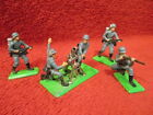 Vintage Britains LTD Deetail WWII Figures Mortar  Flame Throwers, Rifleman 1971