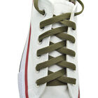 Flat Shoelace 8 mm Olive Athletic Sneakers 4554