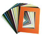 Set of 100 8x10 MIXED COLOR Precut Mats for 5x7 photo + Backing +Bags