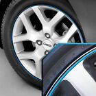 Wheel Bands Sky Blue in Black Pinstripe Edge Trim for Geo 13-22' Rims