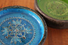 Vintage Mid Century Two Rosenthal-Netter Italian Pottery Dishes Bold COLORS!