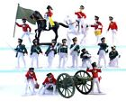 Plastic Toy Soldiers Napoleonic Prussian Russian Infantry Painted Set 19 Pieces