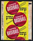 1963 Topps Baseball 1 Cent Repeater Wrapper - Extremely Nice