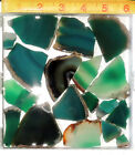 Green Brazilian Agate Slabs For Cabochons,Tumbling 10oz 285gm Lots Dyed Agate