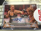 Ronda Rousey 2016 Knockout ruby red 8 autograph.