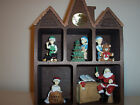Never Used House of Lloyd Musical Wooden Curio Shelf Christmas Santa Toy Shop