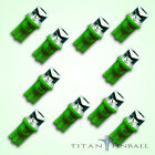 10 Pack 63 Volt LED Bulb Concave 555 Wedge Base T10 Pinball GREEN