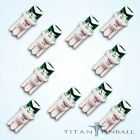 10 Pack 63 Volt LED Bulb Concave 555 Wedge Base T10 Pinball COOL WHITE