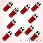 10 Pack 63 Volt LED Bulb Concave 555 Wedge Base T10 Pinball RED