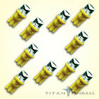 10 Pack 63 Volt LED Bulb Concave 555 Wedge Base T10 Pinball YELLOW