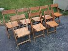 Vintage Mid Century Wood Chair Lot FoldIng Deco Chairs Snyder Co Fold Up Retro 8