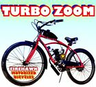 TURBO ZOOM 80cc Gas Motor COMPLETE ENGINE WITH A 26 BIKE BICYCLE MOPED SCOOTER