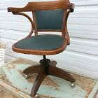 VINTAGE MILO BAUGHMANN FOR THONET BENTWOOD INDUSTRIAL OFFICE CHAIR