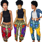 New Women Sexy Casual Loose Vintage Ethnic Wide Leg Long Pants Bohemian Trousers