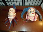 Vintage Dyan Nelson Nobody's Fool Clown Jester Mime Wall Hanging Mask Clay Art