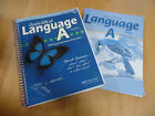Lot 2 A Beka Gods Gift Of Language A Grade 4 Teacher Edition and Tests Workbook