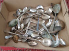 Vintage lot of 40 silverplate flatware Craft Jewelry SPOONS ONLY