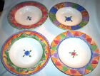 Sango SWEET SHOPPE: Set of 4 Rimmed Soup Bowls: 3023, 3024, 3025, 3026: EXC: NR
