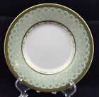 Fitz & Floyd, Winter Holiday pattern, saucer, green lattice border, 6 1/2